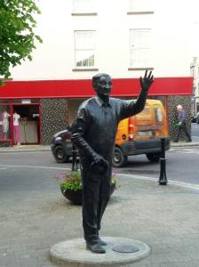 John B Keane statue in Listowel
