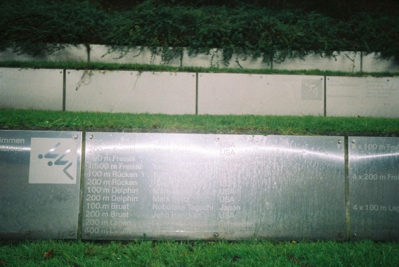 Olympic plaque of winners Munich