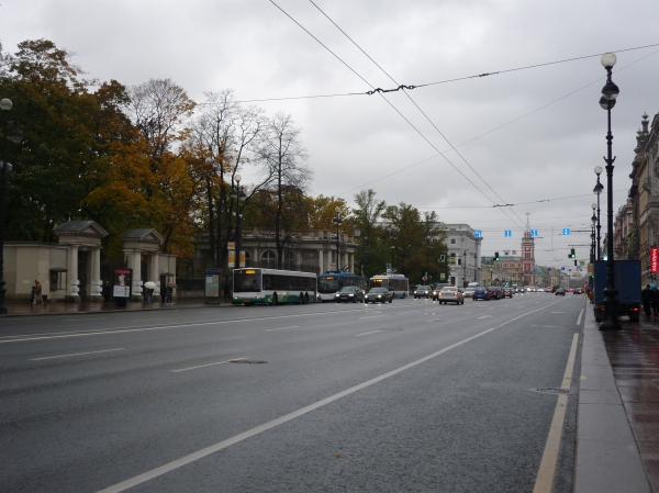 Nevsky Prospekt - St. Petersburg's main thoroughfare