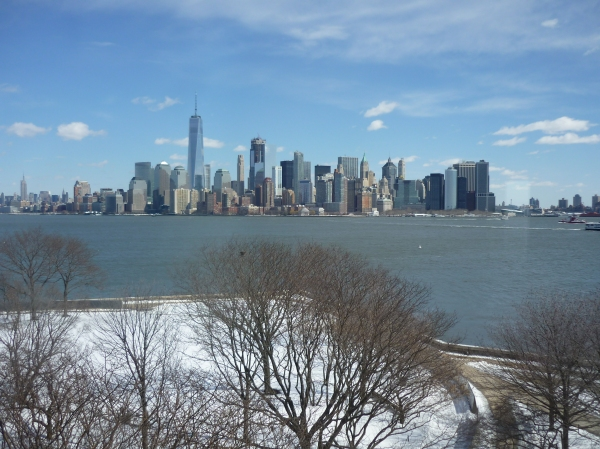 View of Lower Manhattan, New York, from Ellis Island