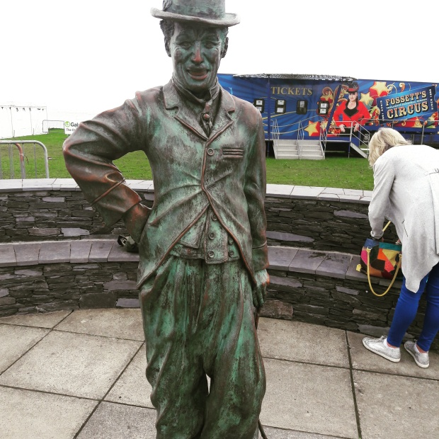 Waterville Charlie Chaplin statue Kerry Ireland