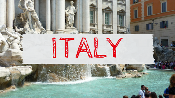 Italy Rome Trevi Fountain travel blog