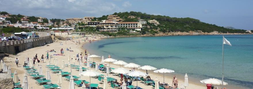Baia Sardinia beach