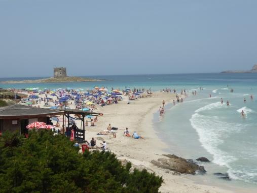 La Pelosa beach Spiaggia della Pelosa Sardinia I