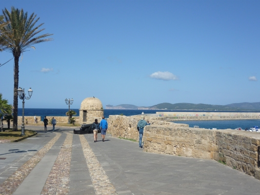 Alghero City Wall Sardinia Italy