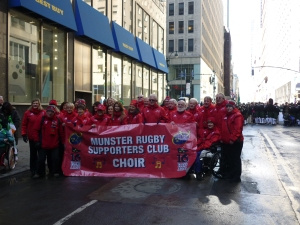 Munster Rugby Supporters Club Choir New York City St. Patrick's Day Parade