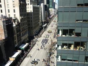View of 5th Avenue Manhattan New York City Saint Patrick's Day parade