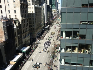 View of 5th Avenue Manhattan New York City Saint Patrick's Day parade
