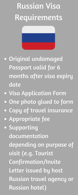 Russian Visa Requirements