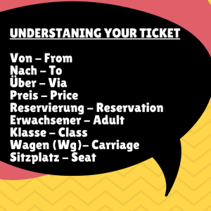 Understanding a German train ticket