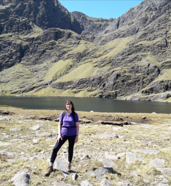 Hiking near Carrauntoohil Lough Gouragh
