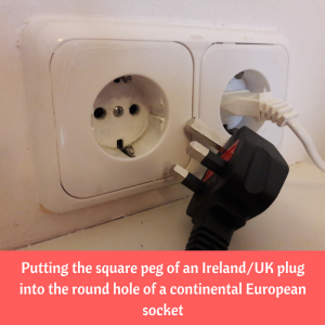 pre travel checklist adapter plug