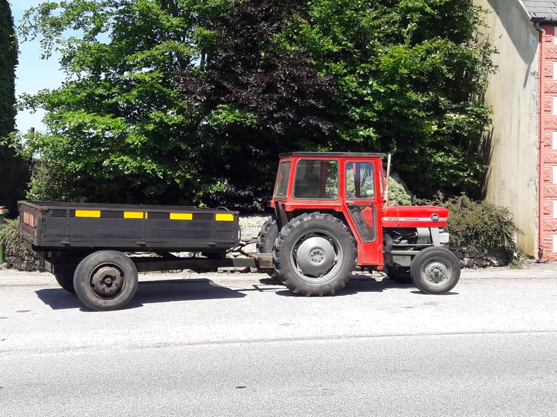 Tractor on Irish roads