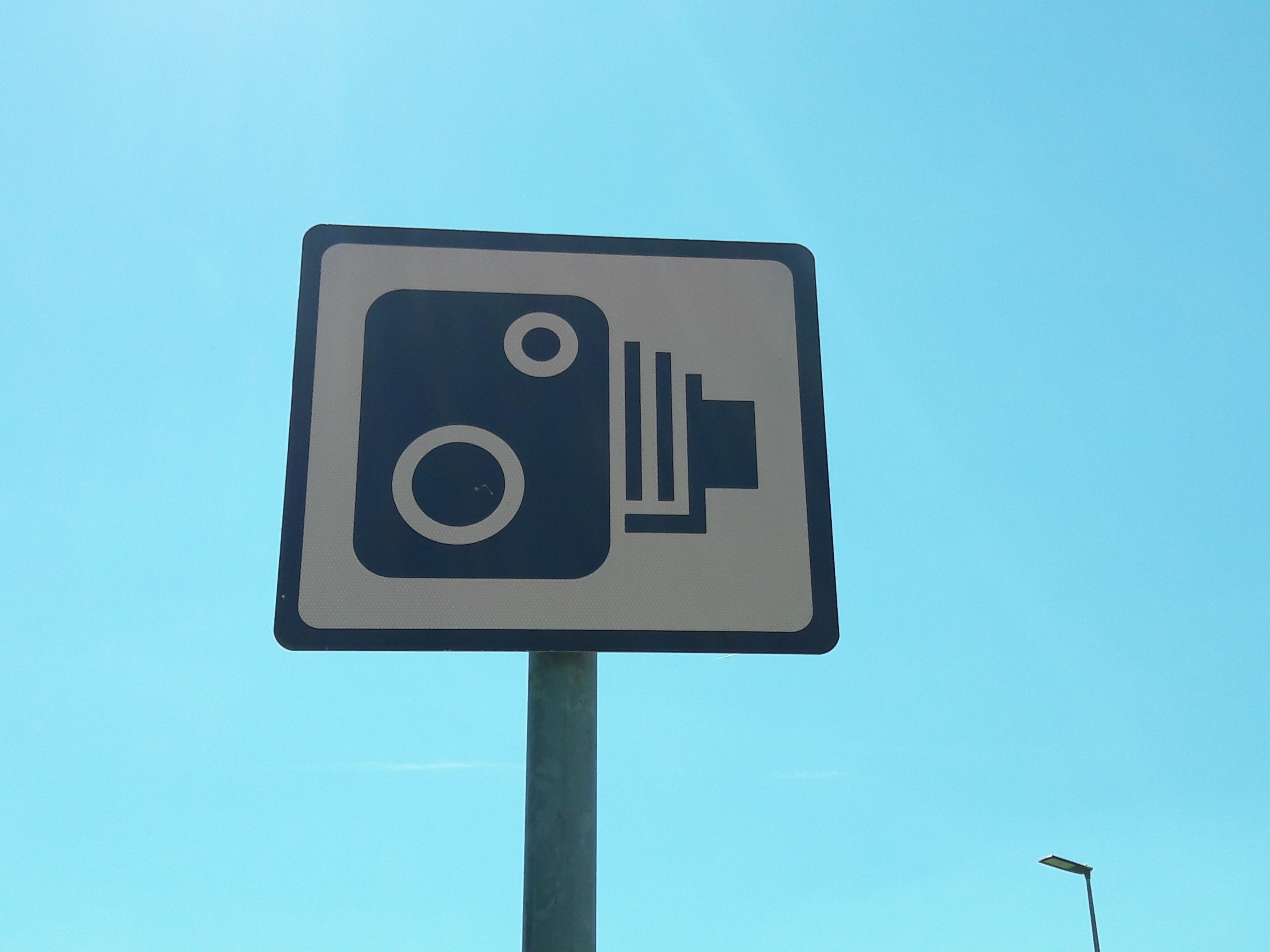 Speed camera sign Ireland