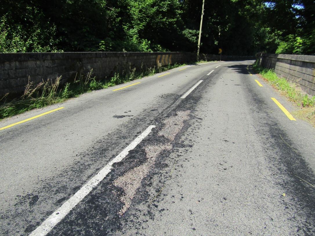 Irish road during heatwave