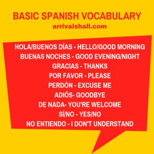 Basic Spanish vocabulary