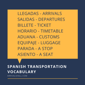 Spanish Transportation Vocabulary