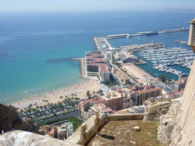 Alicante Marina and El Postiguet Beach