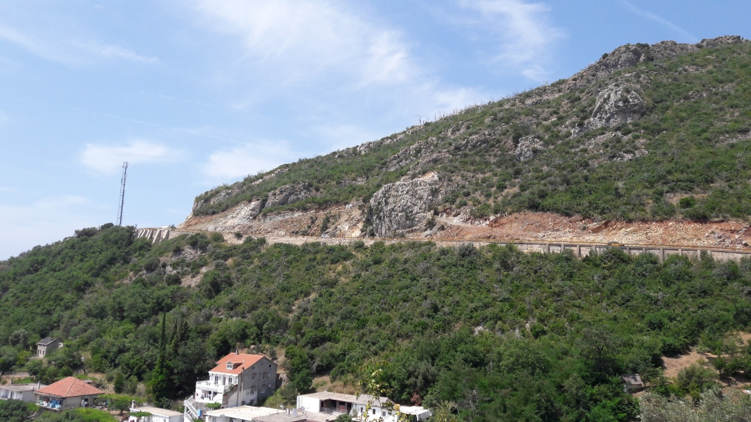 Budva to Cetinje road