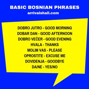 Basic Bosnian phrases