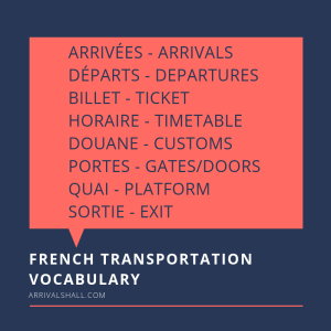 French Transportation Vocabulary
