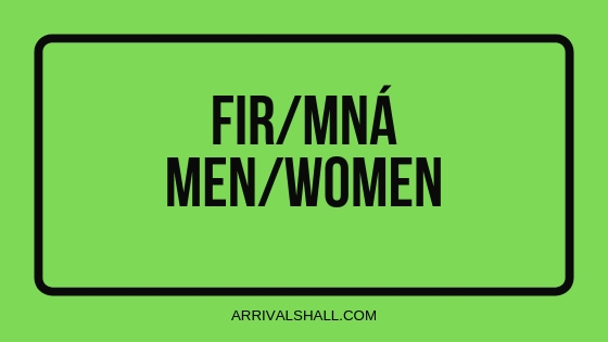 FIR MNÁ toilet sign Ireland