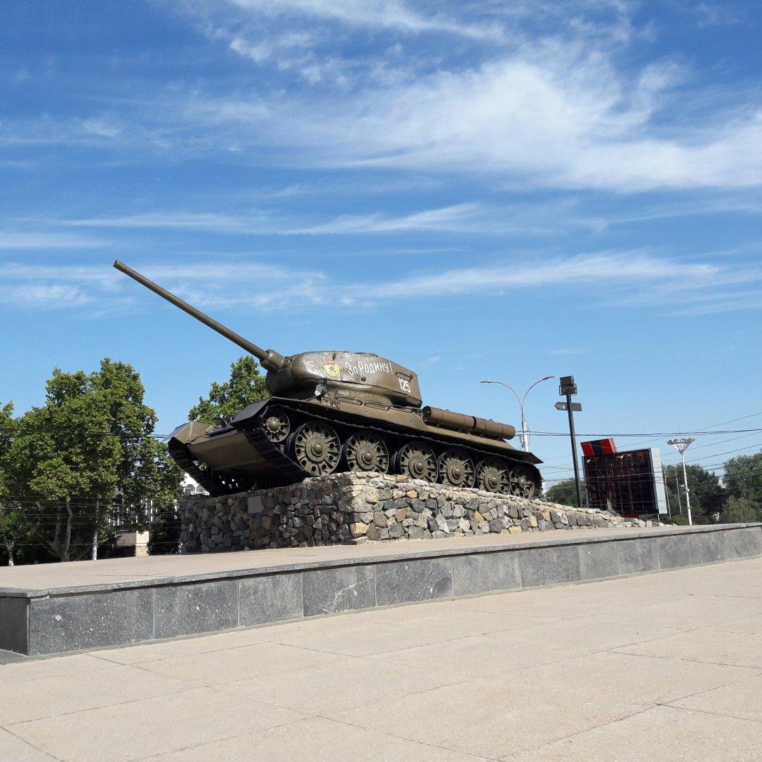 Tank on ul 25 Oktober Tiraspol Transnistria
