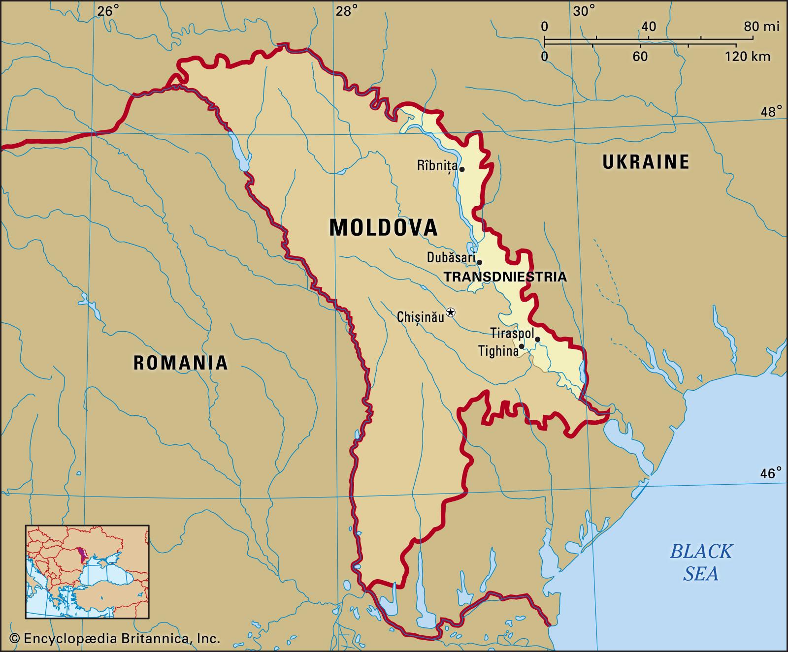 Map of Transnistria