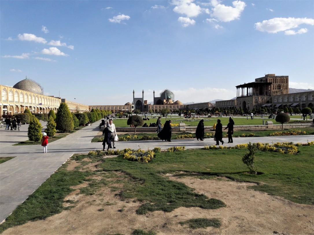 Naqsh-e Jahan Square by day Isfahan