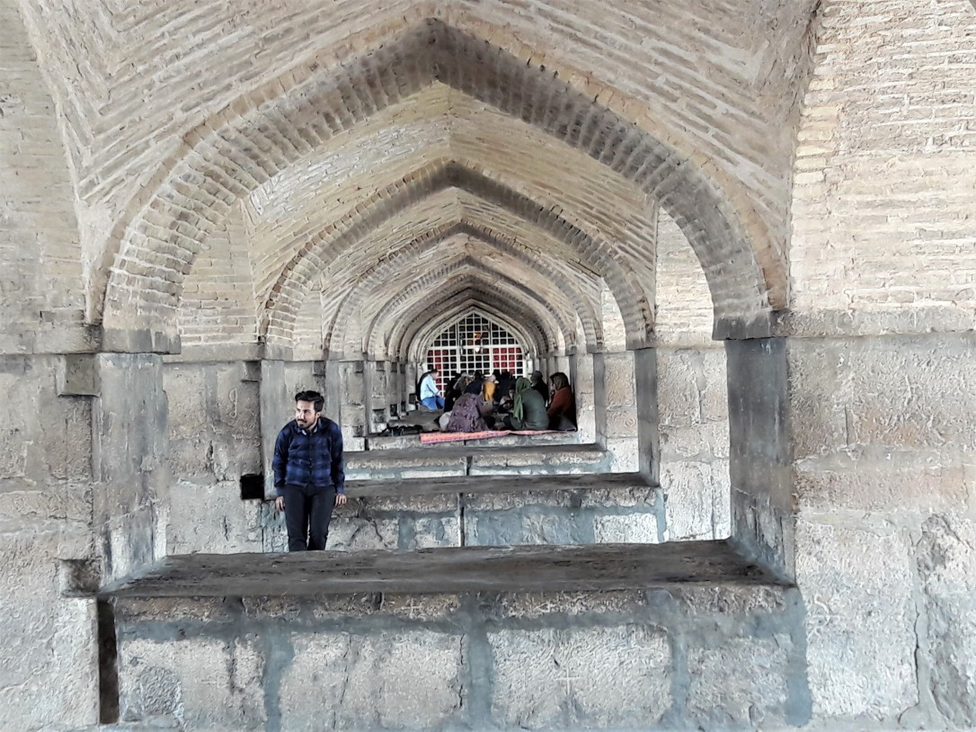 Pol-e Khaju Bridge arches Isfahan