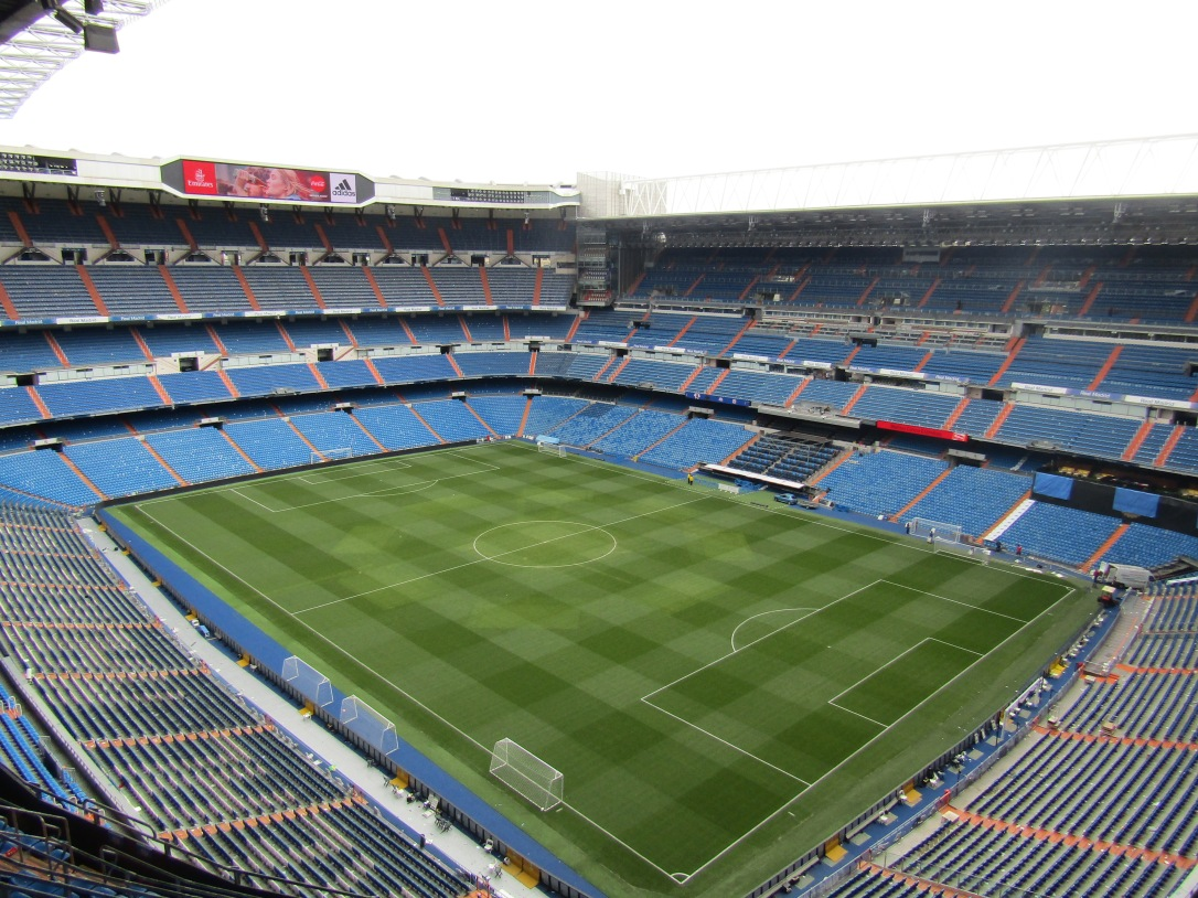 Santiago Bernabeu Stadium pitch
