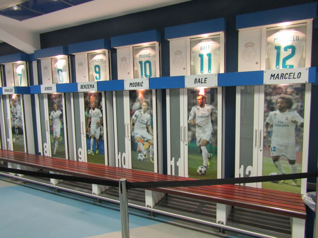 Real Madrid dressing room