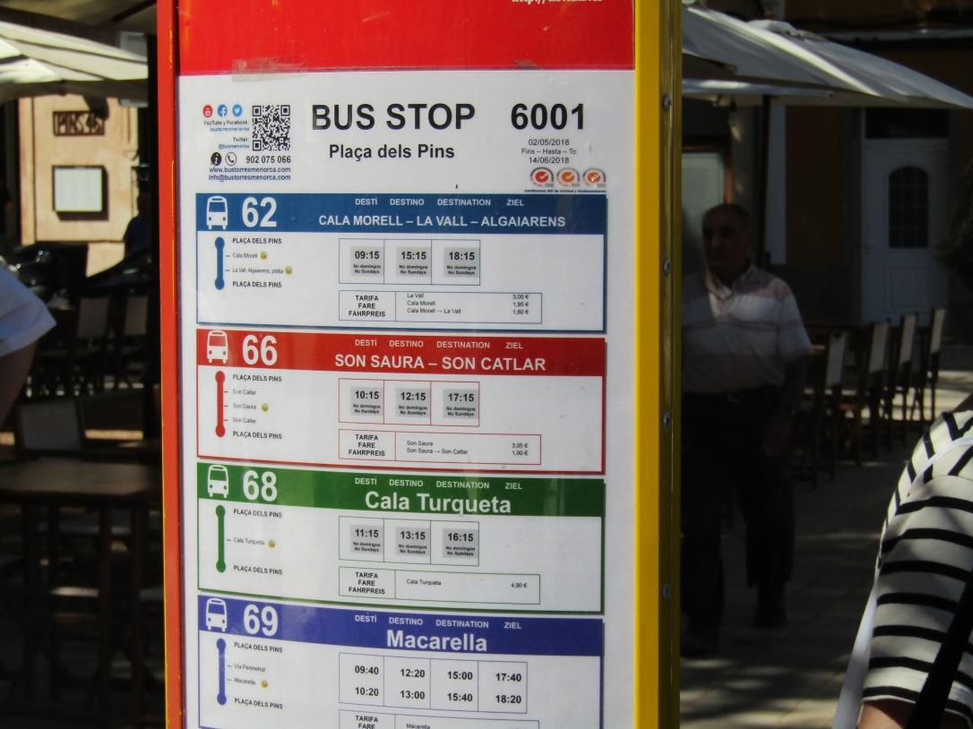 Ciutadella bus timetable