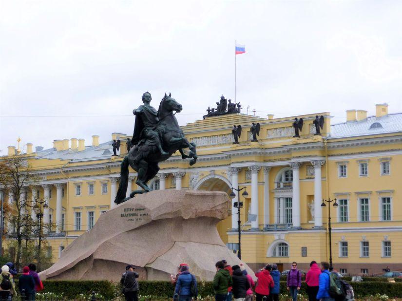 Bronze Horseman Statue St Petersburg