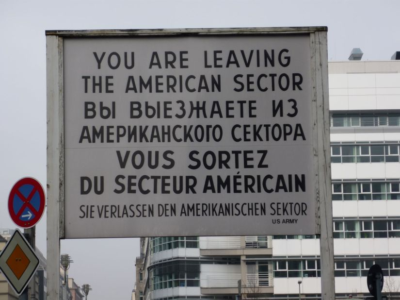 Checkpoint Charlie sign Berlin