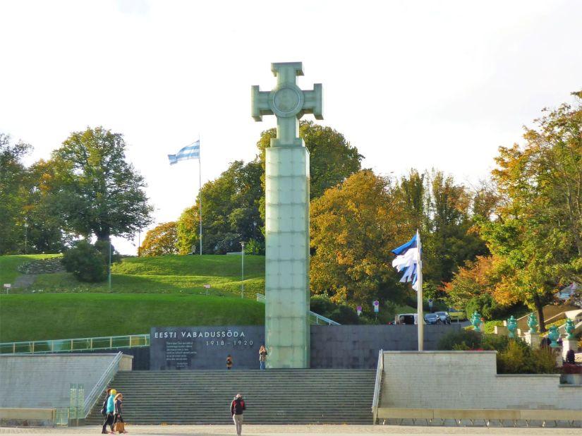 Freedom Square monument Tallinn Estonia