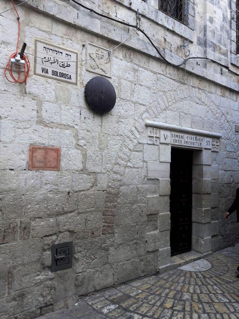 Via Dolorosa Station 5 Jerusalem