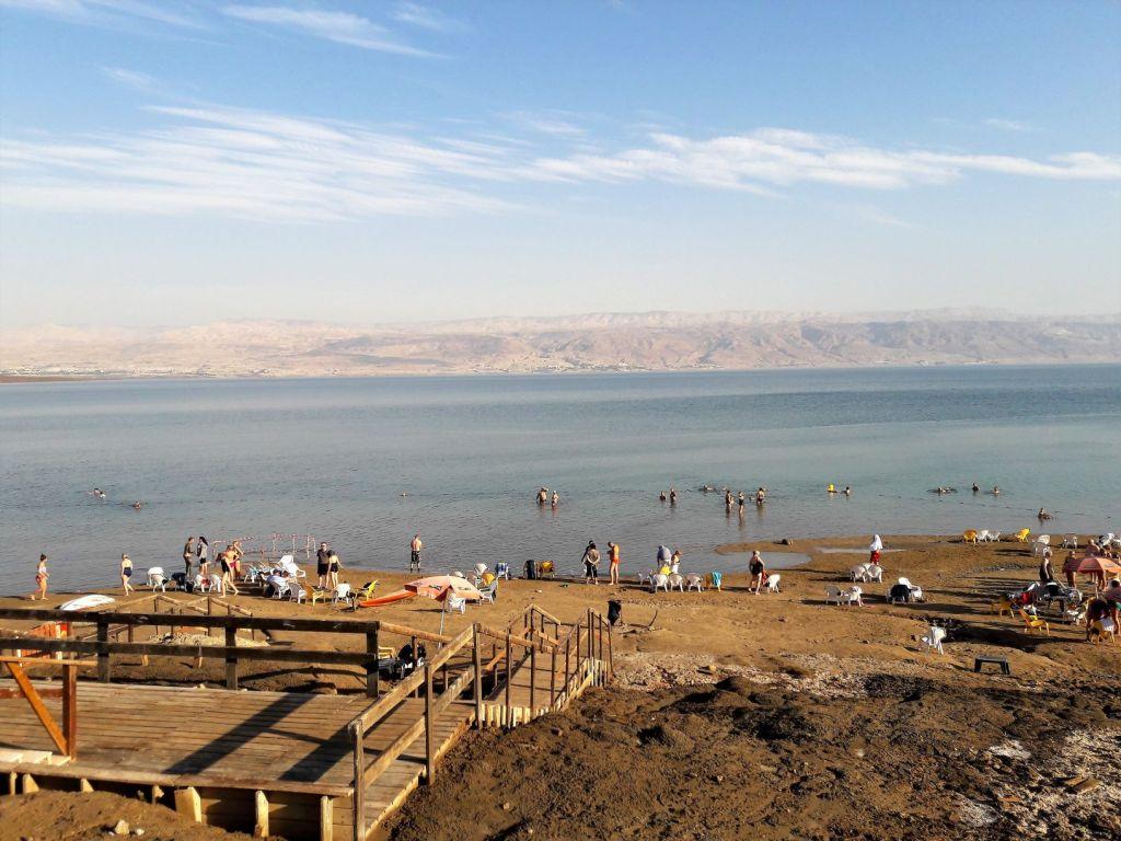 Neve Midbar bathing area Dead Sea