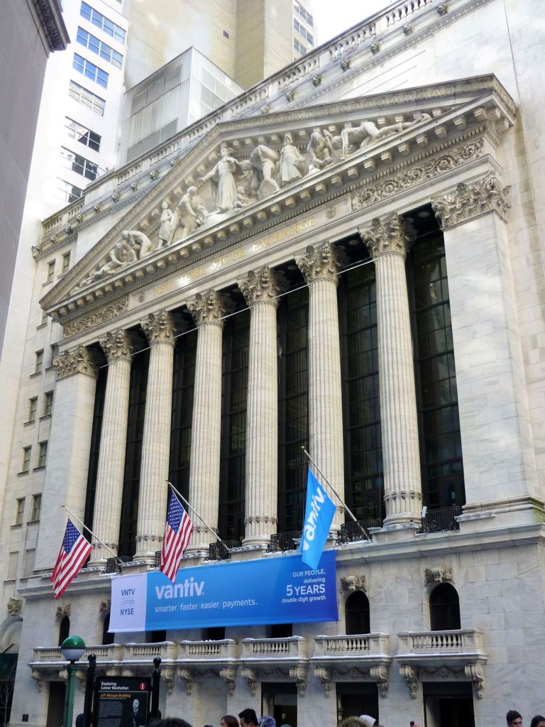 Wall Street Stock Exchange Building New York