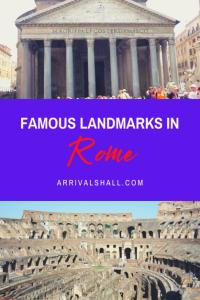 Famous landmarks in Rome
